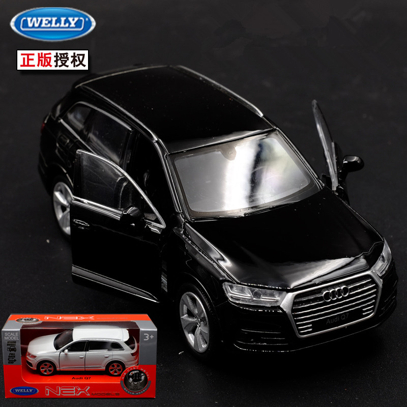 1pc 1:36 11.5cm delicacy WELLY audi Q7 suv car alloy model home collection decoration boy toy gift