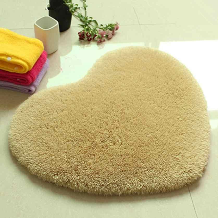 """לב שטיח 40*28 ס""""מ עבה רך רך נגד החלקה שרותים לקיר חדר שינה מחצלת מטבח שפשפת שטיח עבור מזרן בסלון"""