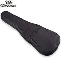 Electric Acoustic Guitar Bag Case Black Ukulele Bag Holder With Double Padded Straps 17 30 Inch