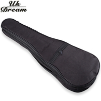 Electric Acoustic Guitar Bag Case Black Ukulele Bag Holder With Double Padded Straps 17 30 Inch