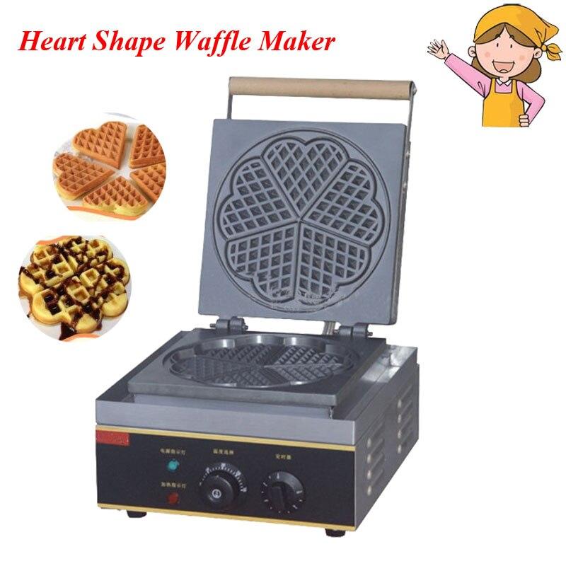 1pc Electric Heart Shape Mould Waffle Maker Mini Plaid Cake Furnace Heating Machine FY-215 sunflower shaped cake maker diy mould tray grey