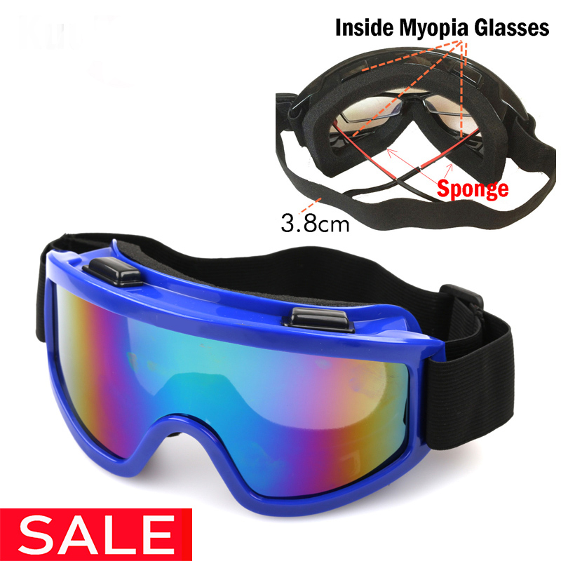 Ski Glasses UV400 Windproof Dustproof Snow Can Built-in Myopia Lens Spone Skiing Goggles