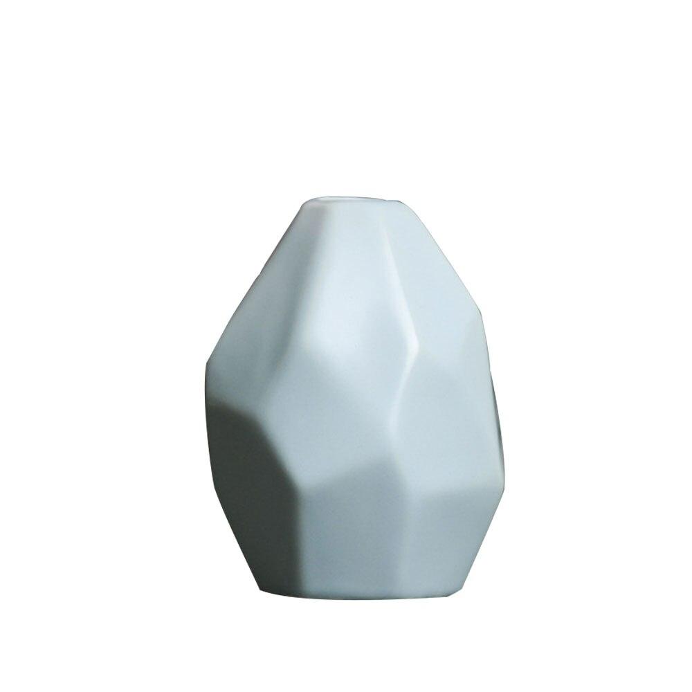 Керамическая ваза, сушеная ваза для цветов, украшение гостиной, сушеный цветочный контейнер, европейская ваза оригами, украшение стола - Цвет: blue