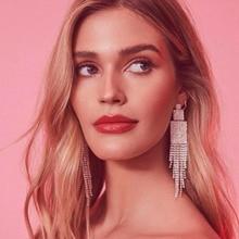 New Long-style earrings  tassels drill chain Earrings  indian earrings  long fashion jewelry  boho  luxury earrings недорого