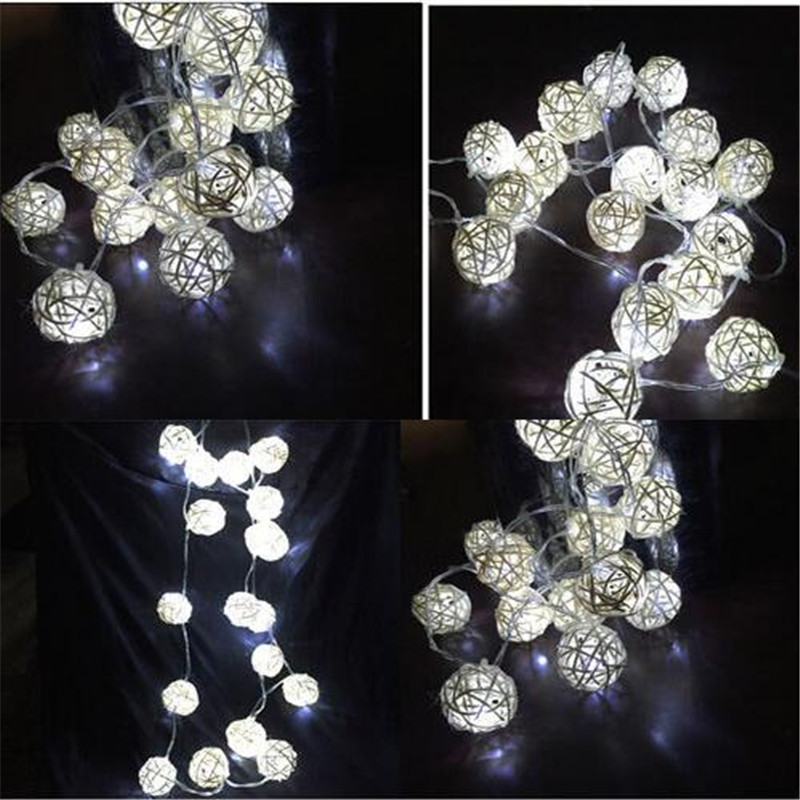 10 Latterns LED 1.5M Funlife Wedding Party Cadena Luces tejidas a - Iluminación de vacaciones - foto 6