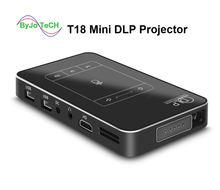 Byjotech t18 dlp мини проектор android 44 wifi 1 ГБ ОЗУ 32 Гб