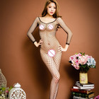 2018 Women Hot Sexy Lingerie Big Mesh Fishnet Bodystocking Hollow Out Sexy Underwear Open Crotch Sexy Costumes Erotic Dress