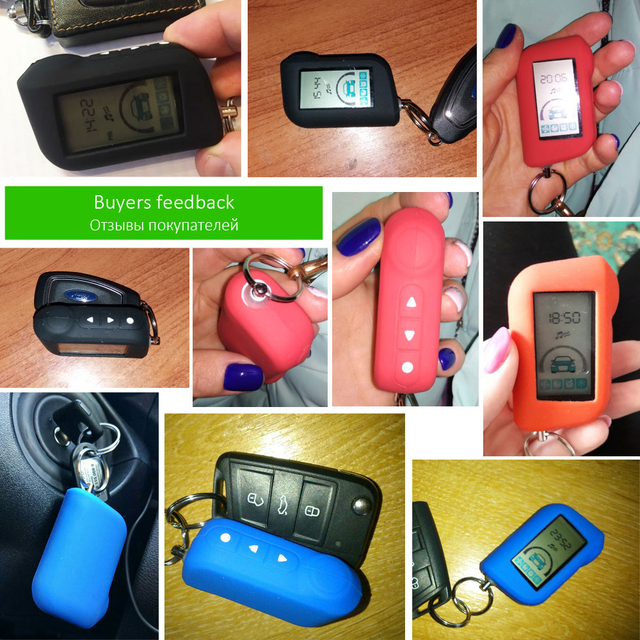 A93 Silicone Case Silica Gel Key Cover Keychain For Starline A63 A39 A36 A66 A96 2-Way Car Alarm LCD Remote Control Transmitter