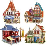 3D World Famous Spot Puzzle Toys Intellectual Development Model Jigsaw Farm