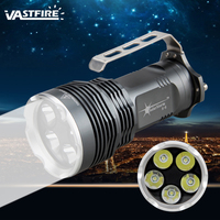 2500 LM 5x XM L T6 LED Flashlight Torch Headlight Handlamp Light Lamp 5 Mode 4x18650+ Charger