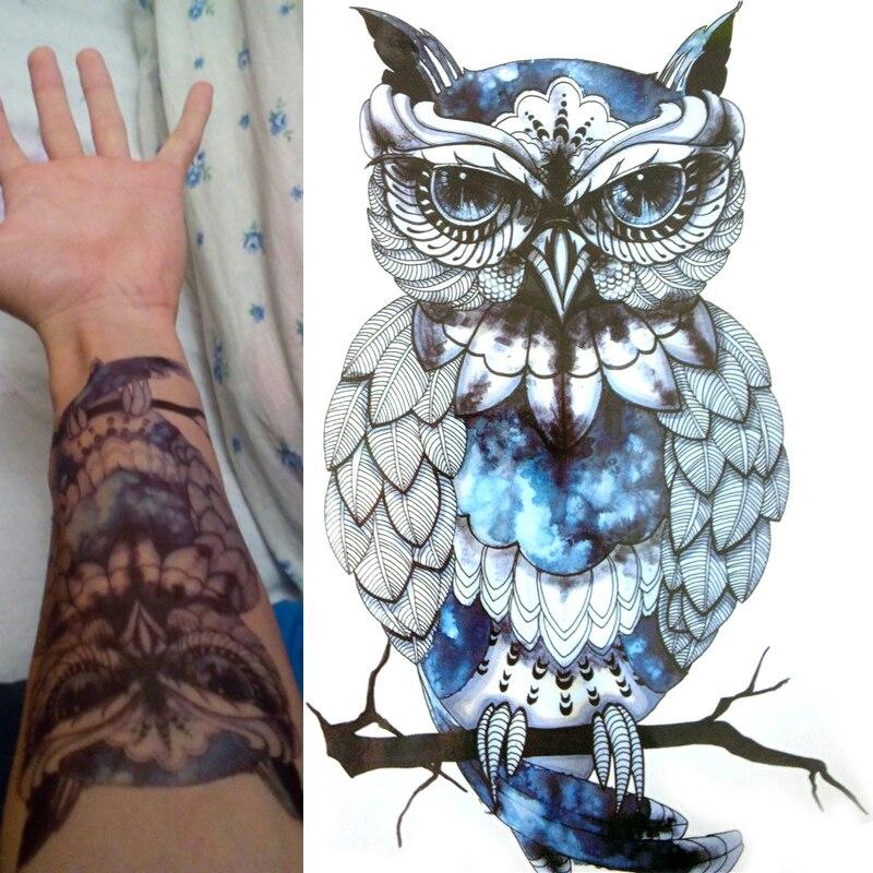 2 Stks Leuke Mode Uil Waterdichte Tijdelijke Tattoo Sticker Tattoo