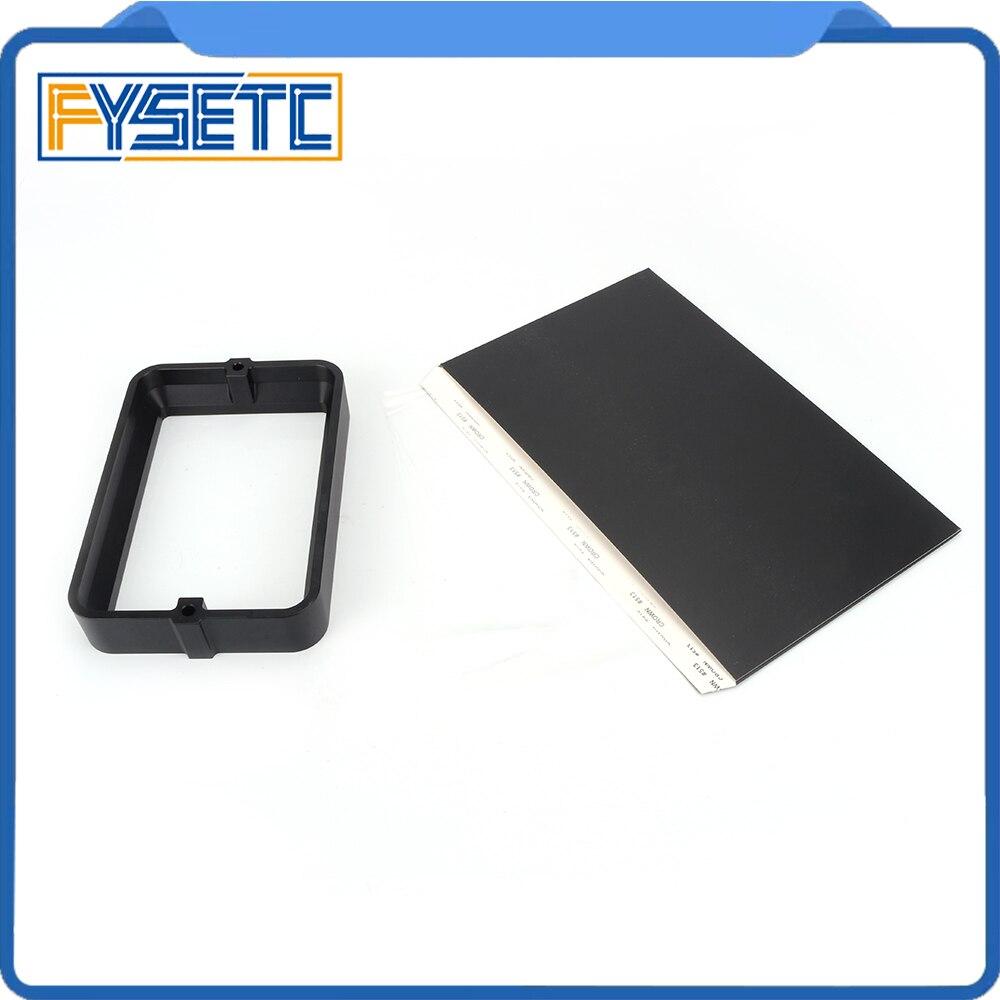 Material Rack negro 178*120mm con 5 uds. FEP Film para DLP SLA wangao D7 3D impresora de resina de aluminio anodizado Vat anillo de acero - 5
