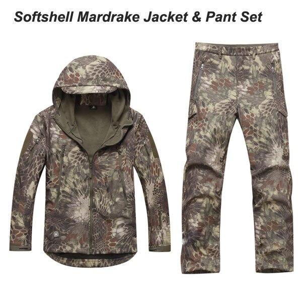 Mens sets Camouflage Mardrake TAD Softshell sets Jacket & pants waterproof breathable windproof good quality Highlander Typhon