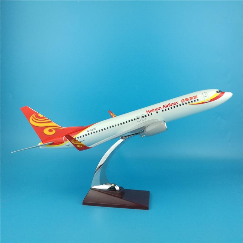 40 cm résine chine Hainan avion modèle Boeing 737 avion modèle Hainan Airways Airbus avion modèle chine Aviation Collection