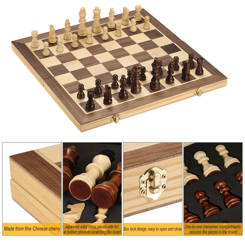 Nouveau Magnétique Pliable Chess Board portable Set avec pieces jeux sport camping