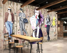 Beibehang Custom Wallpaper fashion Handmade Beauty Apparel Dresser Background Wall Decorative Mural 3d wallpaper papier peint