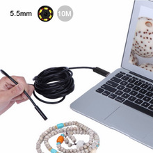 10M Long USB Cable 5.5mm Endoscopic camera for Android HD Waterproof Snake Borescope USB Inspection Camera john deutsch c atlas of endoscopic ultrasonography