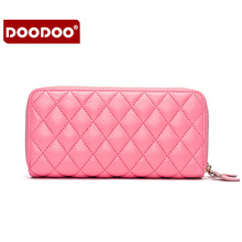 2016 New Hot Pink Sheepskin Women Purse High-Quality Wallet Women Card Holder Genuine Leather Purse Female Wallet