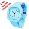 Один часы пользовательские ваш собственный дизайн логотипа Бесплатная доставка спортивные часы 5ATM водонепроницаемый Япония движение обмена ремни WA01