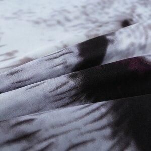 Image 4 - 3D nevresim takımı Kaplan Hayvan Nevresim kraliçe boyutu çarşaf 3 adet Ev Tekstili