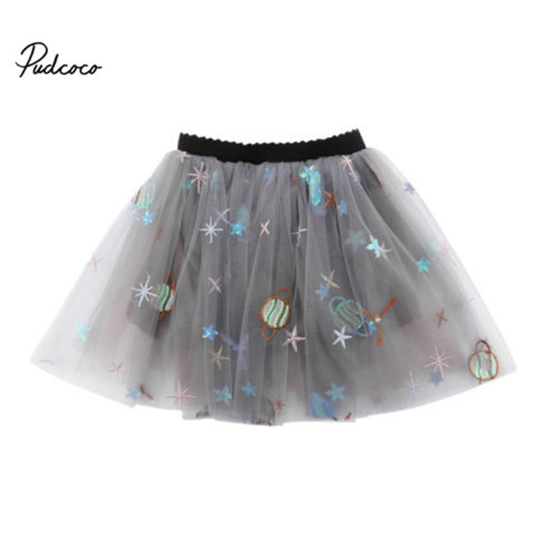 1-7 T Kinder Baby Mädchen Prinzessin Rock 3d Pailletten Stickerei Tüll Tutu Rock Nettes Mädchen Party Mini Röcke