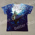 Track Ship+New Vintage Retro Fresh Hot T-shirt Top Tee Rare Whale Shark Wandering in Deep Blue Sea with Small Fishes 0815