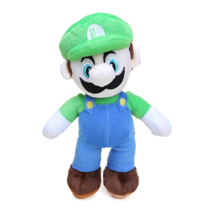 2pcs/lot 25cm Super Mario Bros Luigi Yoshi Soft Plush Toys Anime Cosplay Figure Runing Yoshi Pendant Keyring Animal Dolls Toys