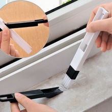 Candy Color 2 in 1 Multipurpose Window Groove Cleaning Brush Household Keyboard Home Kitchen Folding Tool