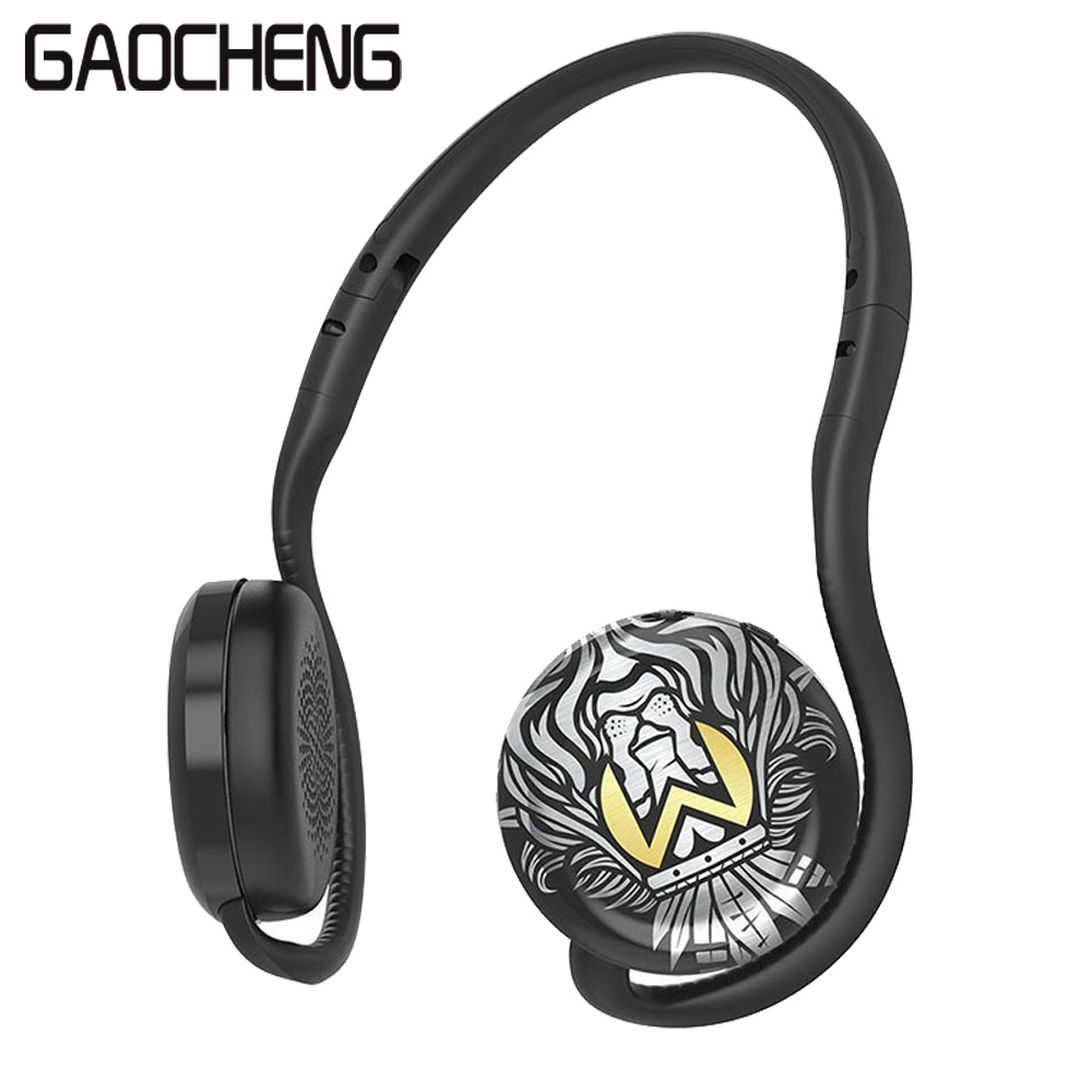 GAOCHENG  BH200 Neckband Sports bluetooth earphone Painted Stereo in ear Headphone wireless Folding  design headset with Mic