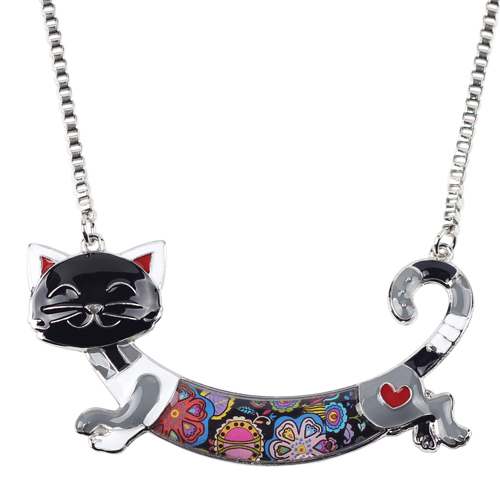 CUTE ALLOY ENAMEL CAT NECKLACE-Cat Jewelry-Free Shipping CUTE ALLOY ENAMEL CAT NECKLACE-Cat Jewelry-Free Shipping HTB1rLuKXQ9WBuNjSspeq6yz5VXaY