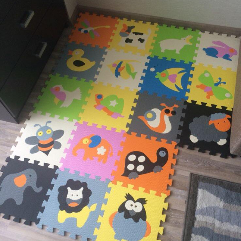 18pcs Children s Mat Kids Play Mat EVA Foam Mat Baby Puzzle Mat Children Interlocking Tile