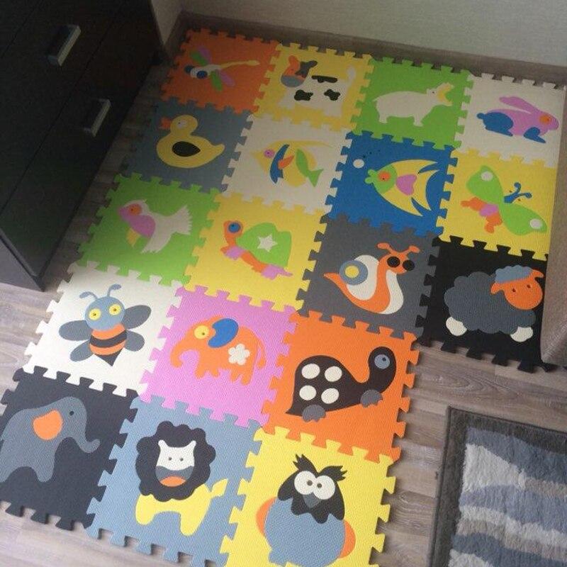 18 pièces tapis de jeu pour enfants tapis de jeu EVA tapis de Puzzle pour bébé tapis de verrouillage pour enfants motif Animal 30cm * 30cm friut