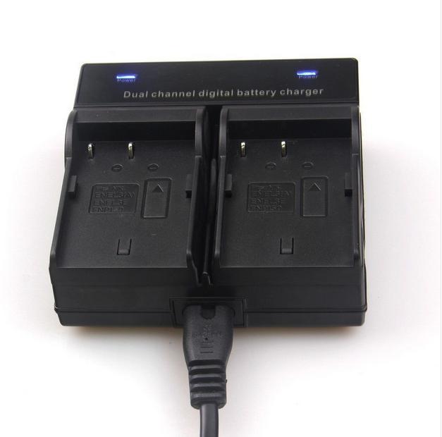 Dual Channel Caricabatteria Per Nikon En-El3e D700 D300S D300 D200 D100 D90 D80