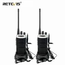 2 pcs Retevis RT7 Radio Walkie Talkie 5W 16CH UHF TOT FM Radio(88-105MHz) Frequency Portable Radio Set Handheld Hf Transceiver