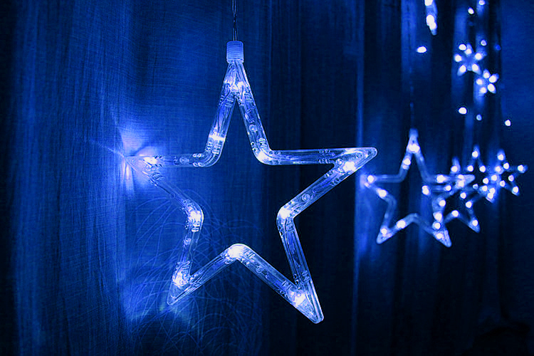 T Creative Star Window Decoration Lamp Colorful Night