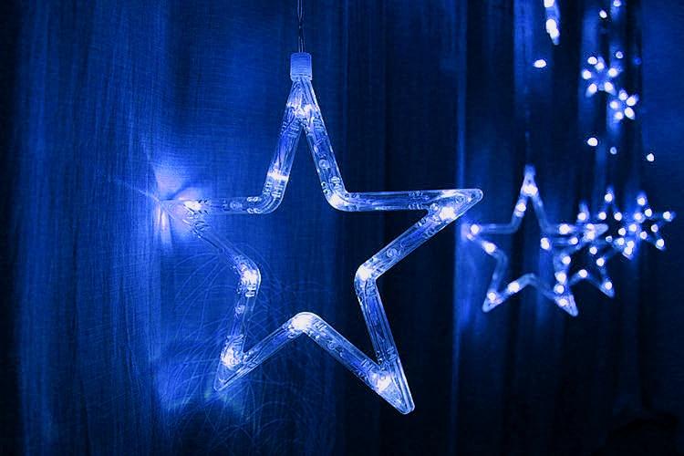 T creative star window decoration lamp colorful night for 6 star window christmas decoration lights