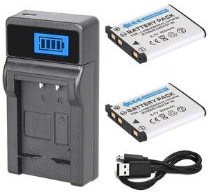 Battery (2-Pack) + Charger For Olympus FE-3000, FE-4000, FE-5000, FE-5010, FE-5020, FE-5030, FE-5050, FE-5500 Digital Camera