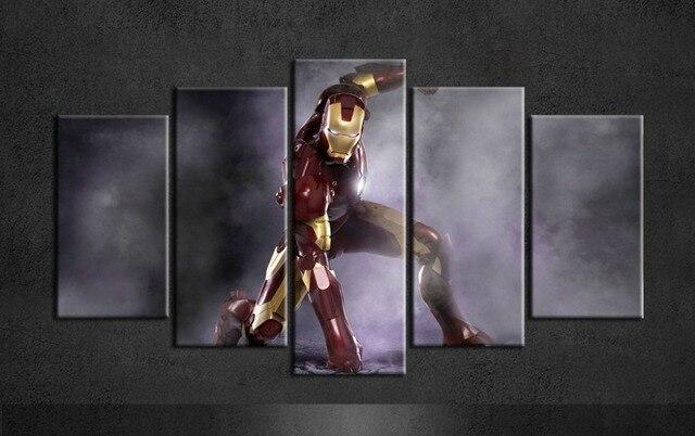 2017 Nuevo diseño Ironman película cartel no Marcos pintura moderna ...
