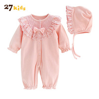 27Kids 2Pcs Lot Infant Clothes Baby Clothing Sets Hot Sale Baby Girls Cloth Set New Cause