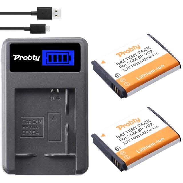 2x Probty BP 70A BP70A Piller + LCD Şarj Cihazı Samsung ST90 ST95 ST100/150F/700/6500 SL600 /605/630 WB30F 35F 50F ES70 ES80