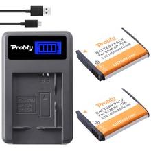 Probty baterías BP70A + cargador LCD para Samsung, 2 uds., ST90 ST95 ST100/150F/700/6500 SL600/605/630 WB30F 35F 50F ES70 ES80