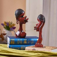 Couple Decoration African Exotic Resin Crafts People Decorations Bedroom Creativity