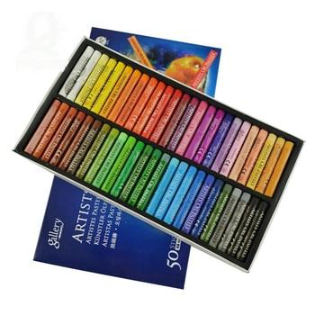 Akcesoria malarskie Kredki 50 kolory ARTYSTÓW pastele olejne dla dzieci narkotyków-darmowa dziecko obraz olejny trzymać mopy Farby Przez numer Pe
