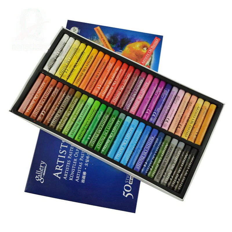 Painting Supplies  Crayons 50 Colors ARTISTS Oil Pastels For Children Drug-free Child Oil Painting Stick Mops Paint By Number Pe