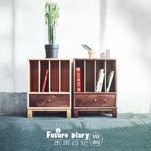 The future diary. Journal of black walnut wood cabinet cabinet corner cabinet oak table