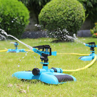 360 Degree Lawn Sprinkler Plastic Rotating Water Nozzle Garden Pipe Hose Nozzle For Garden Forestry Irrigation