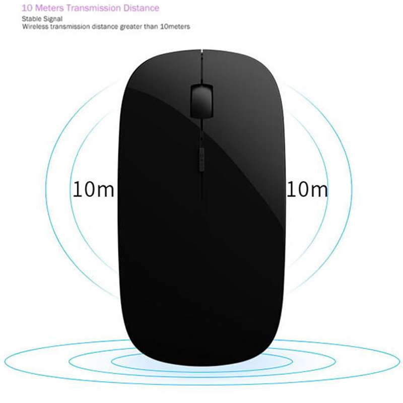 Rechargeable Bluetooth 4 0 Wireless Slim Mouse Mice for iPad Mac Apple  Laptop Macbook Notebook Desktop Tablet SupportWindows 10