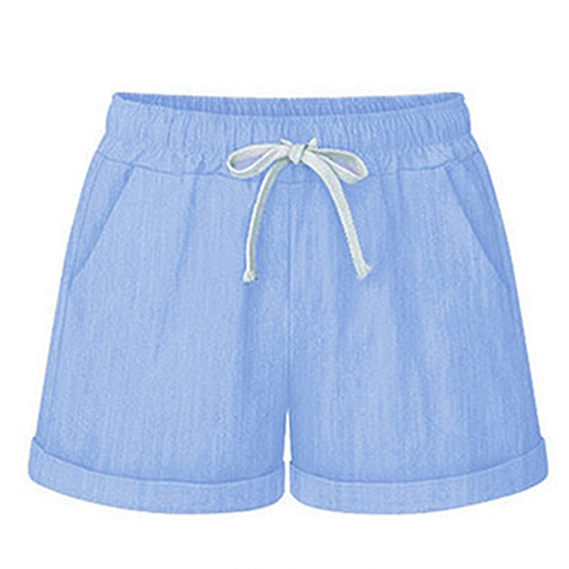 b8f48a82f Women Shorts Casual Home Summer Sports Beach Elastic waistband High waist  Trousers Pants Women Ladies - Daily Buy Tips