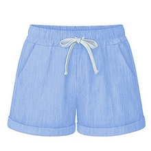 2019 New Women Summer Shorts Fashion Solid Color All-match Loose Shorts spodenki damskie Concise Casual Lace-up Shorts цены