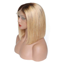 Glueless Lace Front Human Hair Wigs Ombre 4×4 Closure Wig Short Bob Wig Remy Brazilian Blonde Lace Front Wig 130% Straight